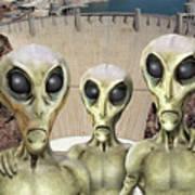 Alien Vacation - Hoover Dam Poster