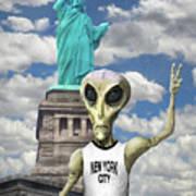 Alien Vacation - New York City Poster