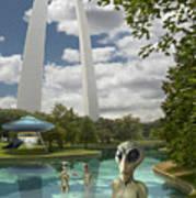 Alien Vacation - St. Louis Poster