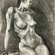 Alison Charcoal On Paper From Observation  Poster