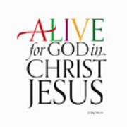 Alive In Christ Poster