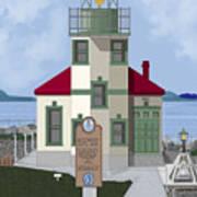Alki Point On Elliott Bay Poster