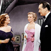 All About Eve, From Left Bette Davis Poster