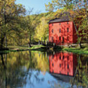 Alley Spring Mill Reflection Poster