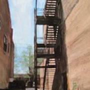 Alley W Fire Escape Poster