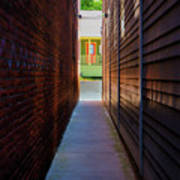 Alleyway To Green Poster