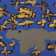 Alligator Among Fish Poster