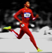 Allyson Felix Ahead Of The Pack Poster