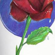 Almost Black Rose Poster