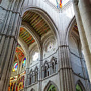 Almudena Cathedral Interior In Madrid Poster