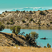 Along The Banks Of The Arkansas River Poster
