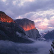 Alpen Glow On El Capitan Poster