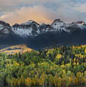 San Juan Mountains Fall Colors Sunrise Poster
