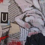 Alphabet Nude U Poster