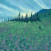 Alpine Hillside Poster