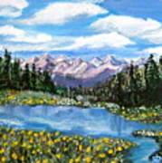 Alpine Lake Colorado Usa Poster