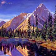 Alpine Lake Mist Poster