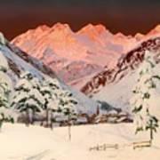 Alpine Mountain Scene Poster