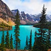 Alpine Scenic Moraine Lake Alberta Canada Poster