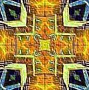 Altar Cross Tapestry Poster