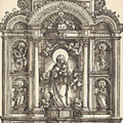 Altar With The Virgin And Child And Saints Christopher, Barbara, George And Catherine Poster
