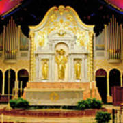Alter - Cathedral Of St. Augustine Poster
