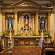 Alter Of The Mission San Buenaventura Poster