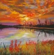 Alton Mill Summer Sunset Poster