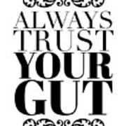 Always Trust Your Gut Poster