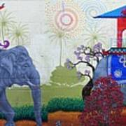 Amazing Wall Art Painting Or Elephants Poster
