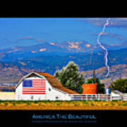 America The Beautiful Poster Poster