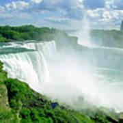 American And Niagra Falls At Niagra Poster