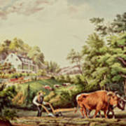 American Farm Scenes Poster by Currier and Ives