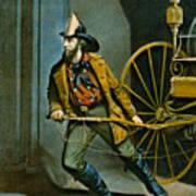 American Fireman 1858 Poster
