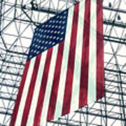 American Flag In Kennedy Library Atrium - 1982 Poster