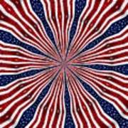 American Flag Kaleidoscope Abstract 6 Poster