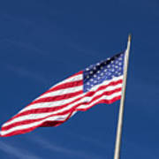 American Flag Waving In The Breeze Poster