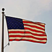 American Flag Waving Proudly- Fine Art Poster