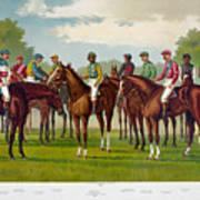 American Jockeys, 1889 Poster