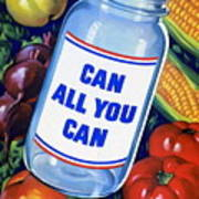 American Propaganda Poster Promoting Canned Food Poster