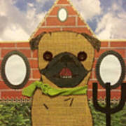 American Pug Gothic Poster