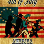 American Revolution Soldier Vintage Poster by Aloysius Patrimonio