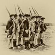 American Soldiers At Fort Mifflin Poster