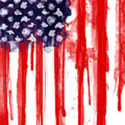 American Spatter Flag Poster