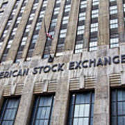 American Stock Exchange Building New York  Poster