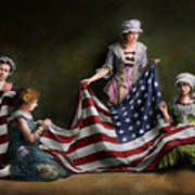 Americana - Flag - Birth Of The American Flag 1915 Poster