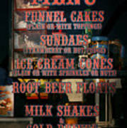 Americana - Food - Menu  Poster