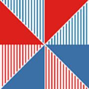 Americana Pinwheel Poster