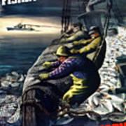 America's Fishing Fleet And Men  Poster