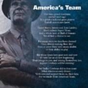 America's Team Poetry Art Poster